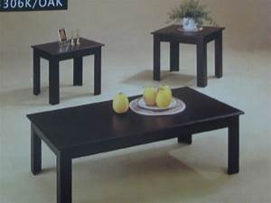 black coffee and end table sets coffee and end tables With black and glass coffee table sets