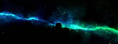 Dual Galaxy 4k Monitor Space Screen Background