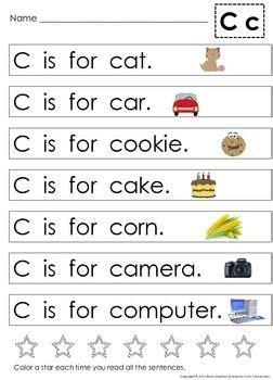 alphabet letter sentences  teach beginning sounds