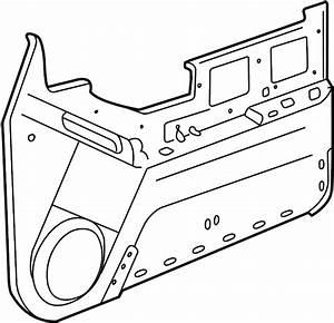 Chevrolet Blazer Trailblazer Door Trim Panel  W  Power