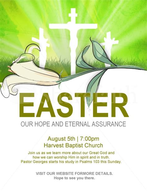 Religious Flyers Template Free by Easter Flyer Template Template Flyer Templates
