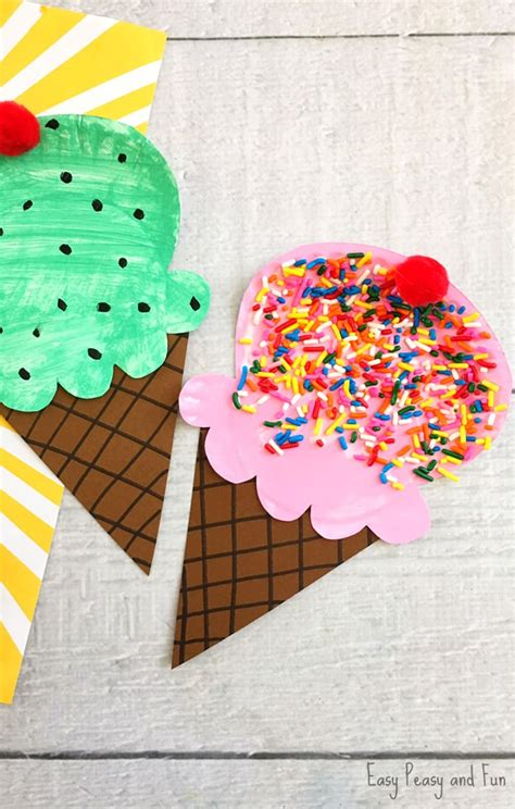 Paper Plate Ice Cream Craft  Summer Craft Idea For Kids