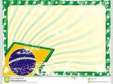 Grungy Brazilian Flag Background Stock Vector