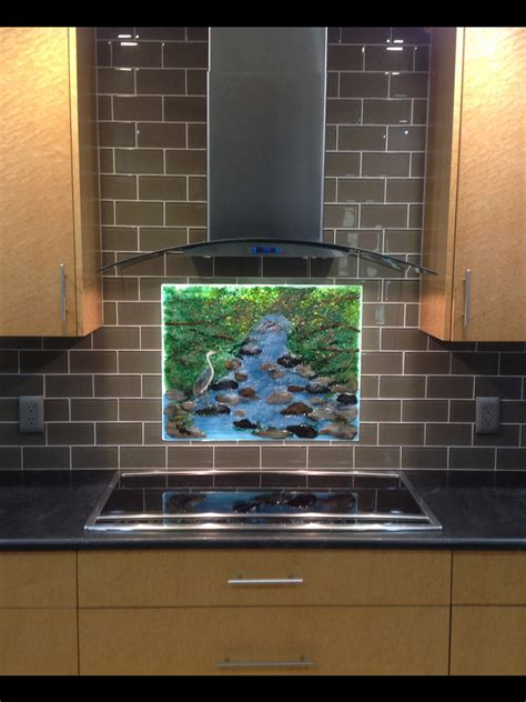 blue heron mountain brook designer glass mosaics