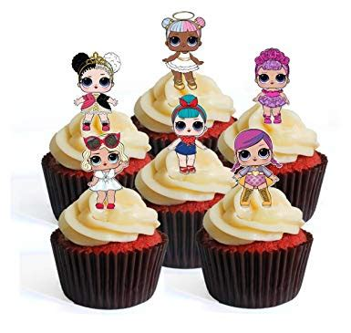 lol cupcake toppers  birthday cakes