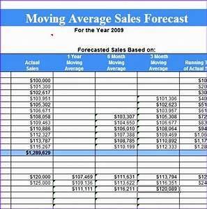 6 sales forecast template excel exceltemplates With moving average excel template
