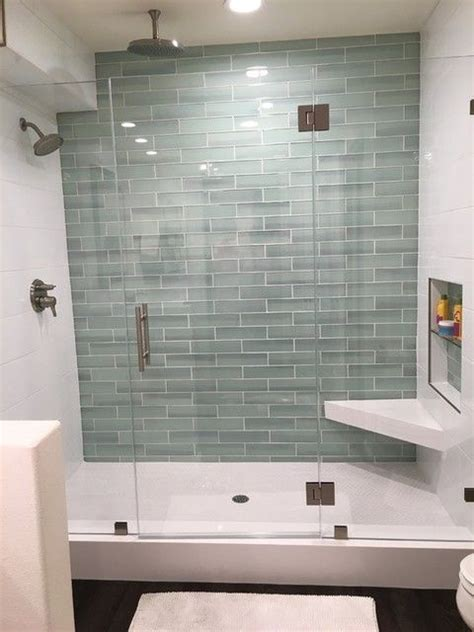 Glass Tile Bathroom Ideas by Blanco Ceramic Wall Tile 8 X 20 New Glass