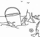 Sand Coloring Castle sketch template