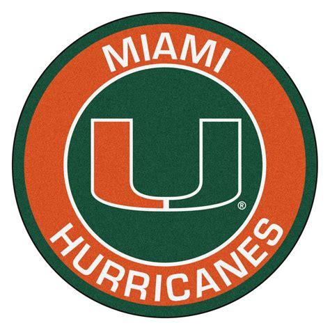 university  miami hurricanes logo roundel mat