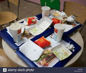 Waste packaging at a Mcdonalds Stock Photo: 33698762 - Alamy