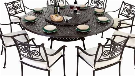 8 seater cast aluminium garden furniture set with