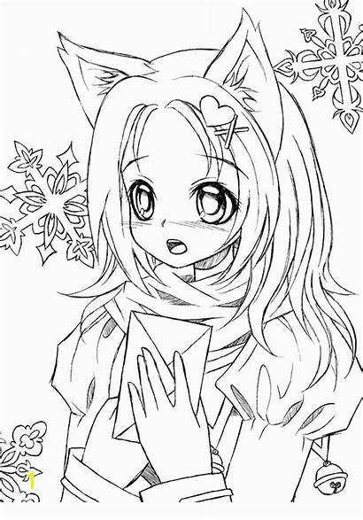 Gacha Coloring Anime Sheets Drawings Printable Adults
