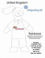 Promise Colouring Activities Rainbow Rainbows Guides Brownies Pages Girlguiding Crafts Brownie Sheet Guide Sparks Activity Kingdom Uniform United Sheets Scouts sketch template