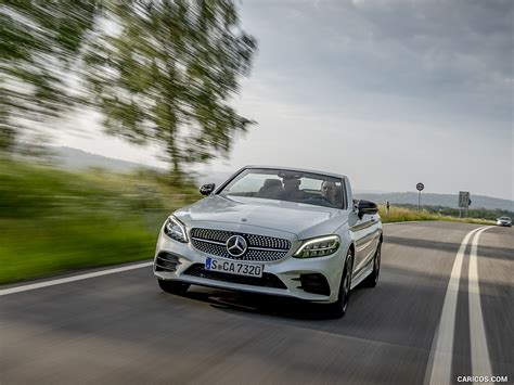 Its sleek coupe profile looks the sporting business outside, while the interior is replete with luxury appointments and modern tech. 2019 Mercedes-Benz C-Class C300 Cabrio (Color: Diamond White) - Front   HD Wallpaper #37
