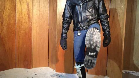 modeling   gripfast  hole  boots steel toe screwed soles youtube