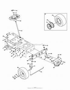 Troy Bilt 13wm77ks011 Pony  2014  Parts Diagram For Front