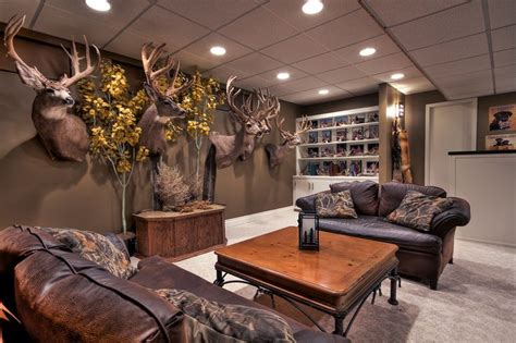 camo living room ideas trophy room alberta outdoorsmen forum cave
