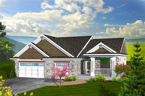 Craftsman Ranch Home Plan