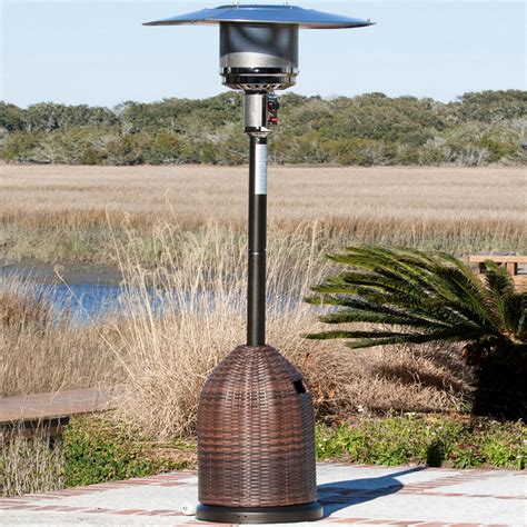 all weather wicker patio heater dfohome