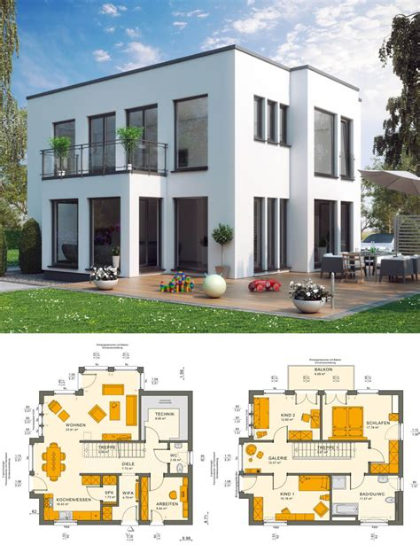 Moderne Häuser Mit Wintergarten by Stadtvilla Modern Im Bauhausstil Mit Flachdach Architektur