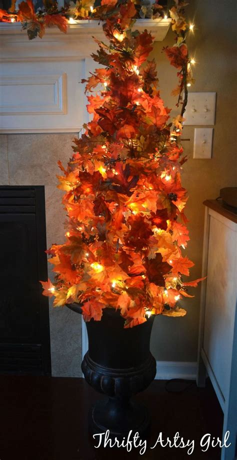 hometalk easy diy fall leaves potted topiary tree