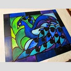 How To Create Faux Stained Glass Using Only Acrylic Paint