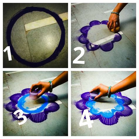 beautiful rangoli making idea step  step art craft