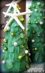 How, To, Make, Sea, Glass, Christmas, Trees, U2013, Recycled, Crafts