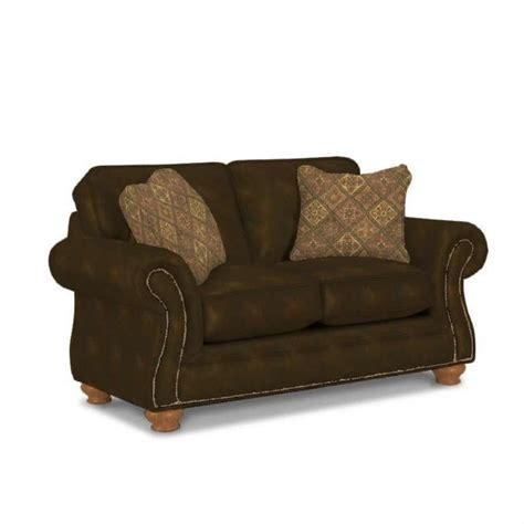 broyhill laramie sofa chocolate broyhill laramie brown loveseat with attic heirlooms wood