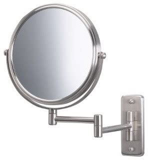 jerdon jp7506n 8 quot wall mount mirror in matte nickel
