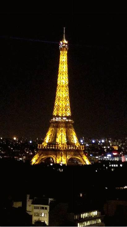 Night Loop Tower Eiffel Paris France Animated
