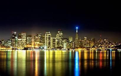 Skyline Houston Wallpapers Night San Francisco Space