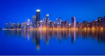 Michigan Lake Chicago Skyscraper Reflection 4k Wallpapers