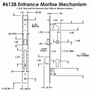 6138 Entrance Mortise Mechanism