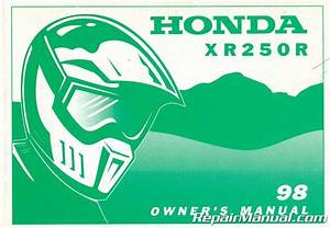 1998 Honda Xr250r Motorcycle Owners Manual