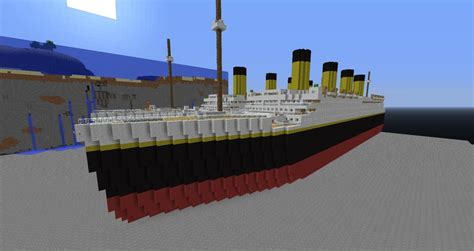 Titanic Sinking 3d by Rms Titanic Minecraft Project