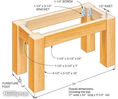 build a wooden desk build your own concrete table the family handyman