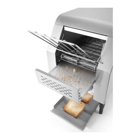 tostapane a nastro tostapane a nastro singolo hendi in acciaio inox 378246