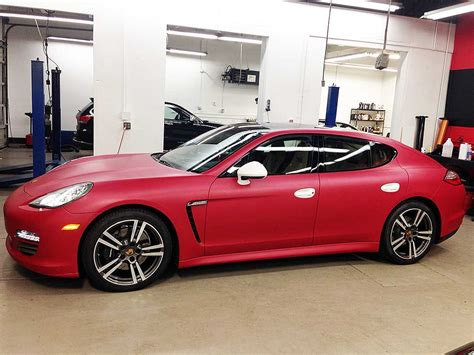 porsche matte red porsche panamera matte cherry red wrap top class auto salon