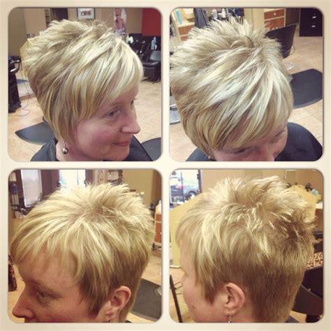 short hair blonde highlights fun hairstyles kurzes