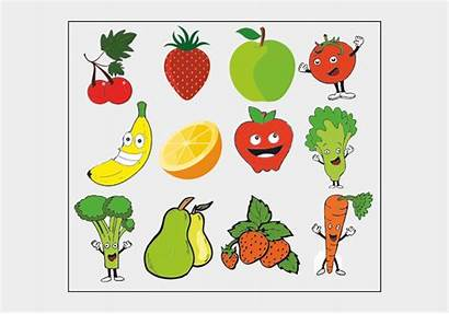 Healthy Clip Eating Clipart Fruit Fruits Vegetables