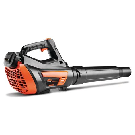 cordless leaf blower with battery and charger remington 135 mph 415 cfm 40 volt lithium ion cordless