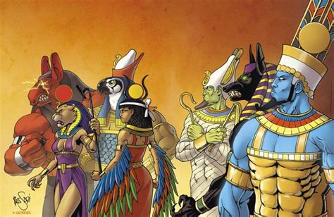 Egyptian-gods By Brunobessadi On Deviantart