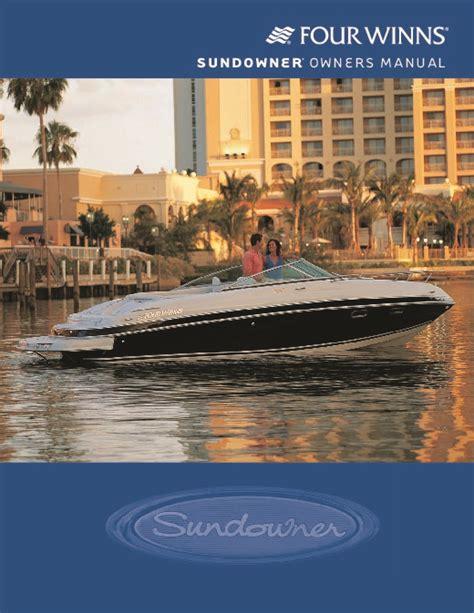 Four Winns Boat Owners Manual by Four Winns Sundowner 205 225 245 285 Boat Owners Manual