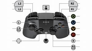 Ouya Gamepad Controller Layout Diagram White Bg By Qubodup