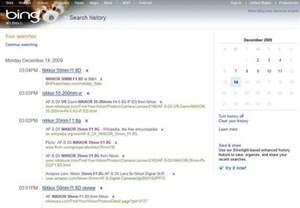 Delete Bing Search History