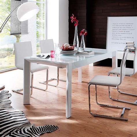 esstisch mit milchglas esstisch esszimmertisch tisch 160x90 ausziehbar modern in hochglanz wei 223 glas ebay
