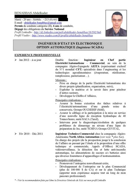 D Cv by Calam 233 O Cv Automaticien Exp 233 Riment 233