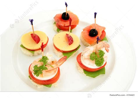 canapes finger food photo of canape or finger food