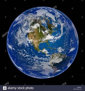 Earth View from Space, North and South America Stock Photo ...